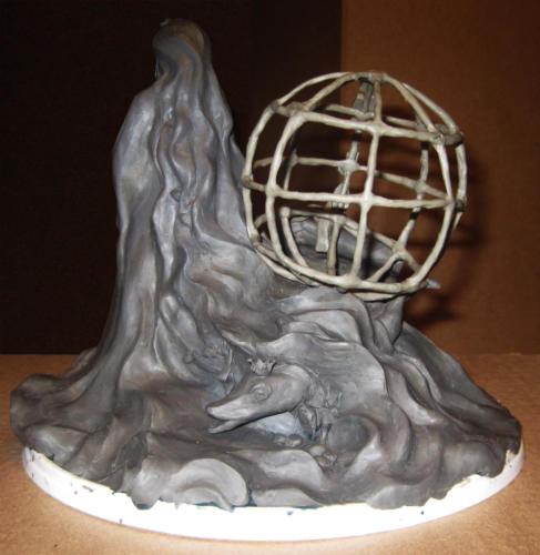 Поиск образа. Скульптура из пластилина (вид сзади)